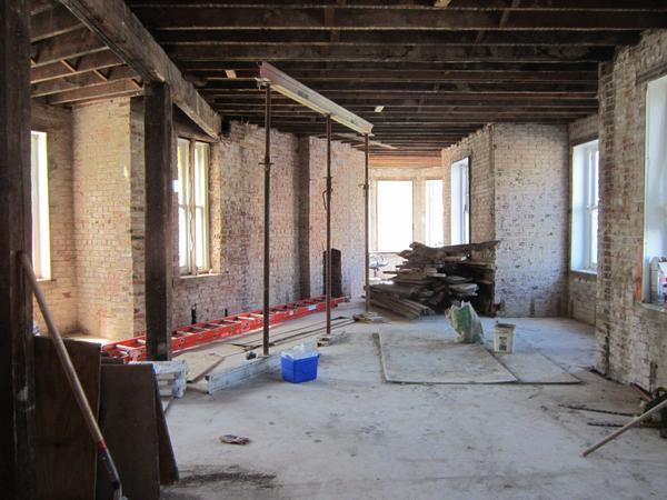 Future home of the Hotel Hive's bar and lounge.