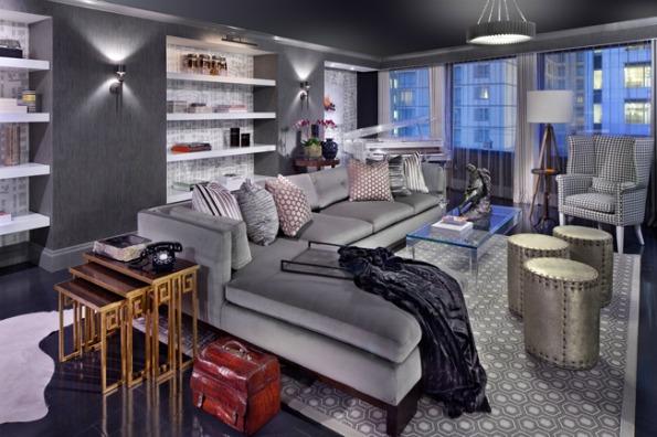 Designer Jeff Akseizer's Modern Lounge. Photo by Morgan Howarth .