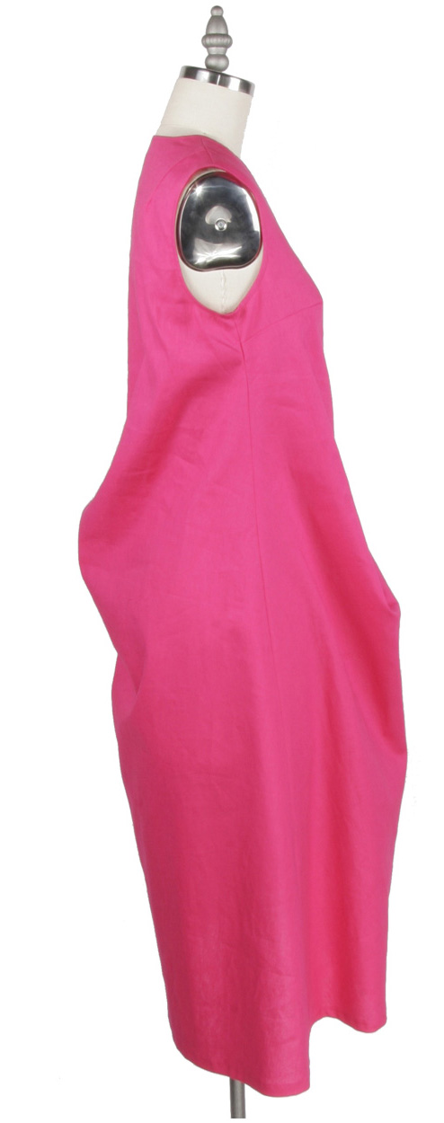 PINK ESSEX DRAPE DRESS SIDE.jpg