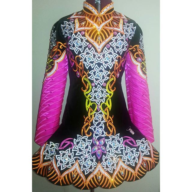 #kirations #offtherack #sworovski #lace #pink #irishdance