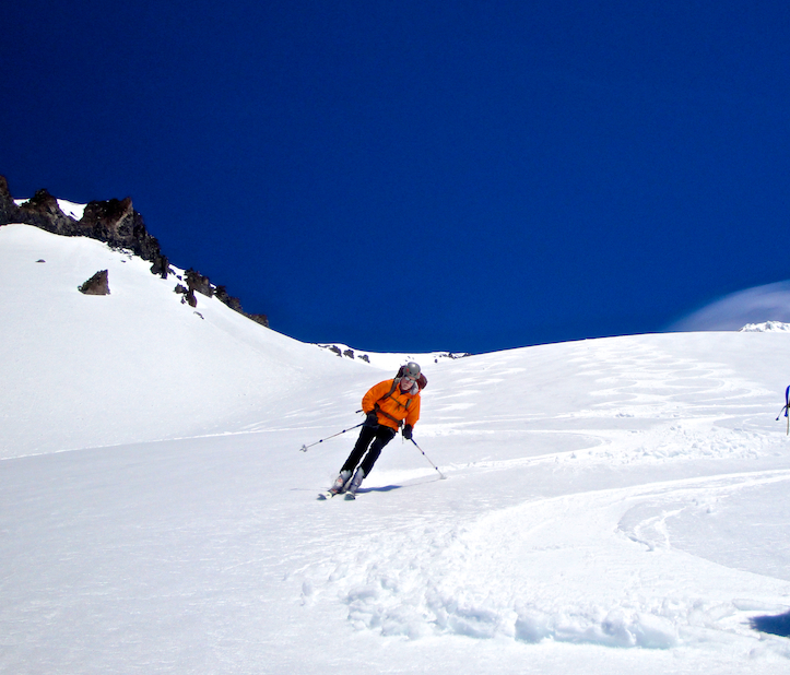 Skiing Mount Shasta's Avalanche Gulch