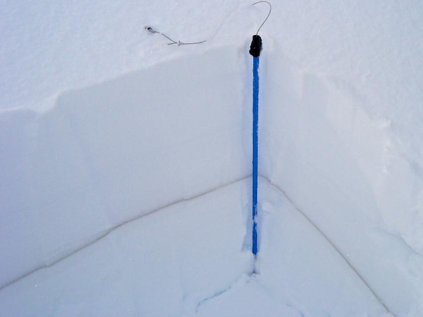 A snow pit