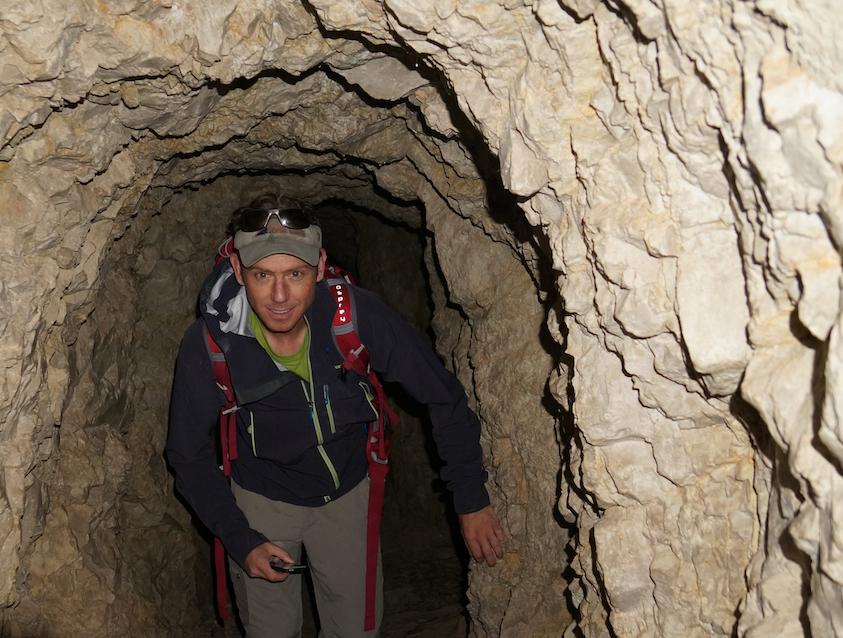 Bernd on the Aiguille du Republique, Chamonix, france