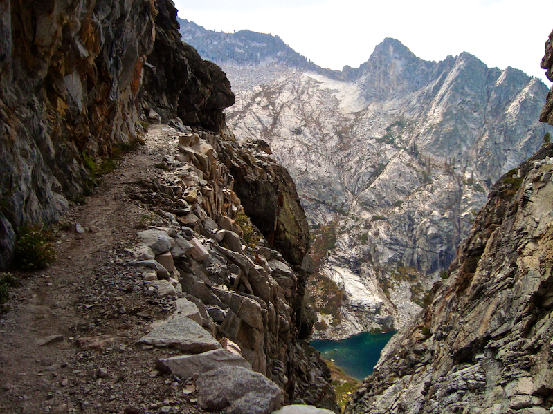 A section of the High Sierra Trail