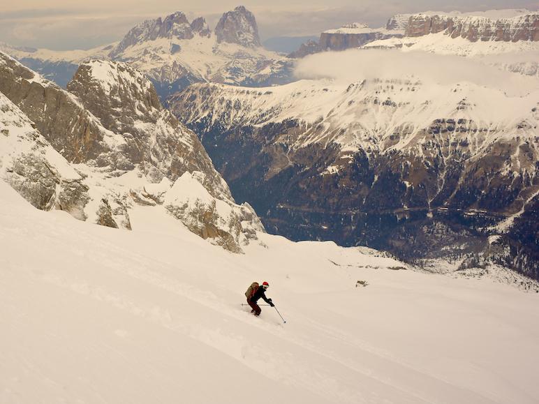 Skiing Marmolada