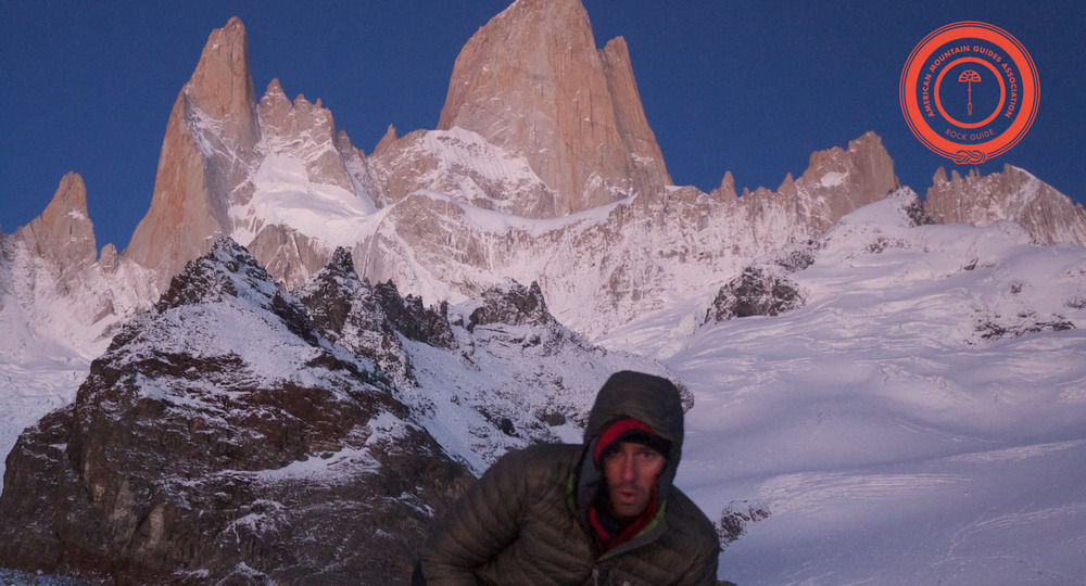 Pete at the fitzroy group, Patagonia