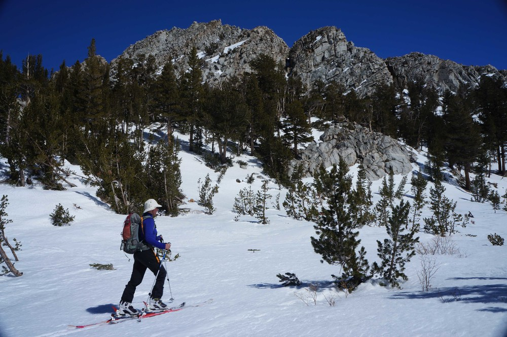 Ski touring near Mammoth
