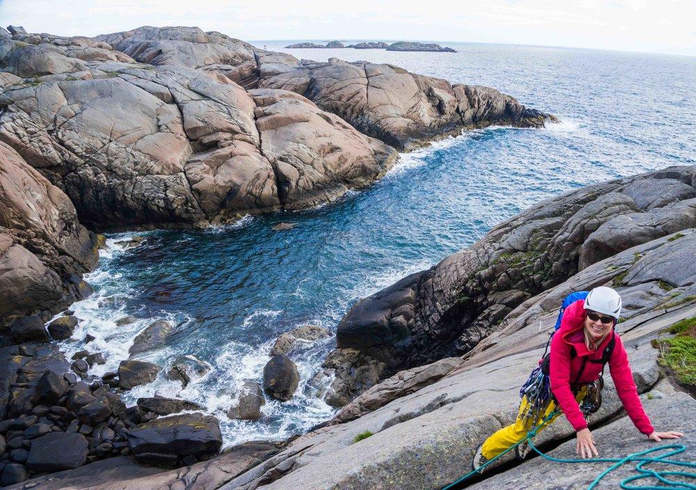 Climbing above the ocean