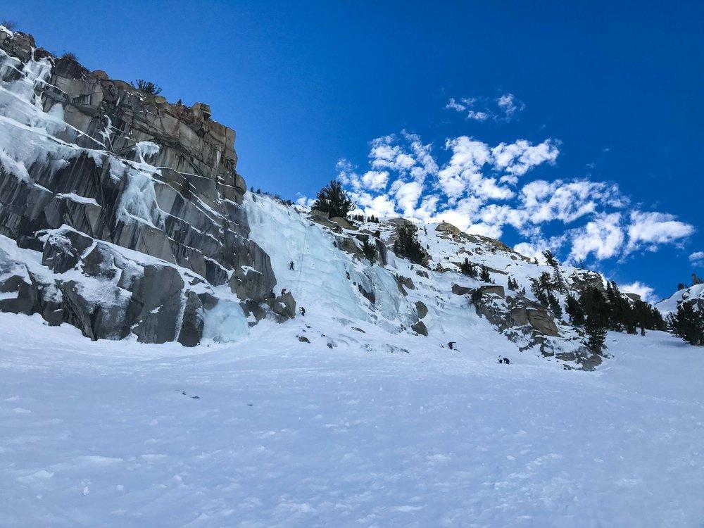 Chouinard falls at lee vining