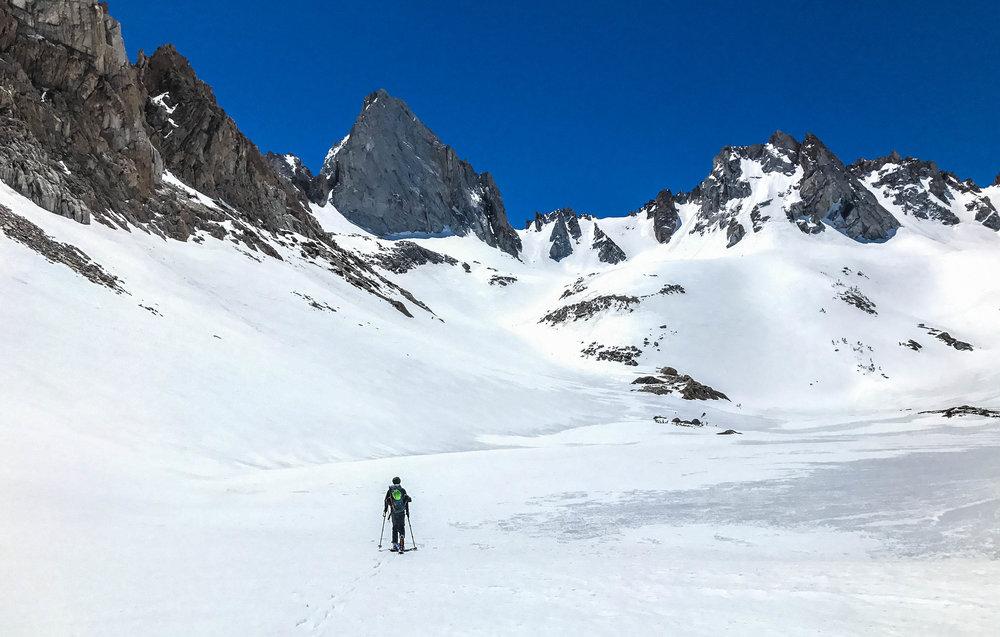 approacing Blacksmith peak in the Sawtooth ridge