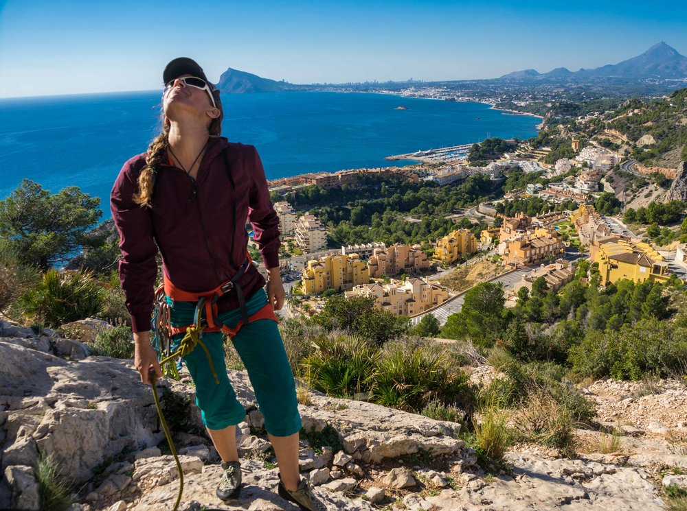 Scoping out a rock climb in the Costa Blanca