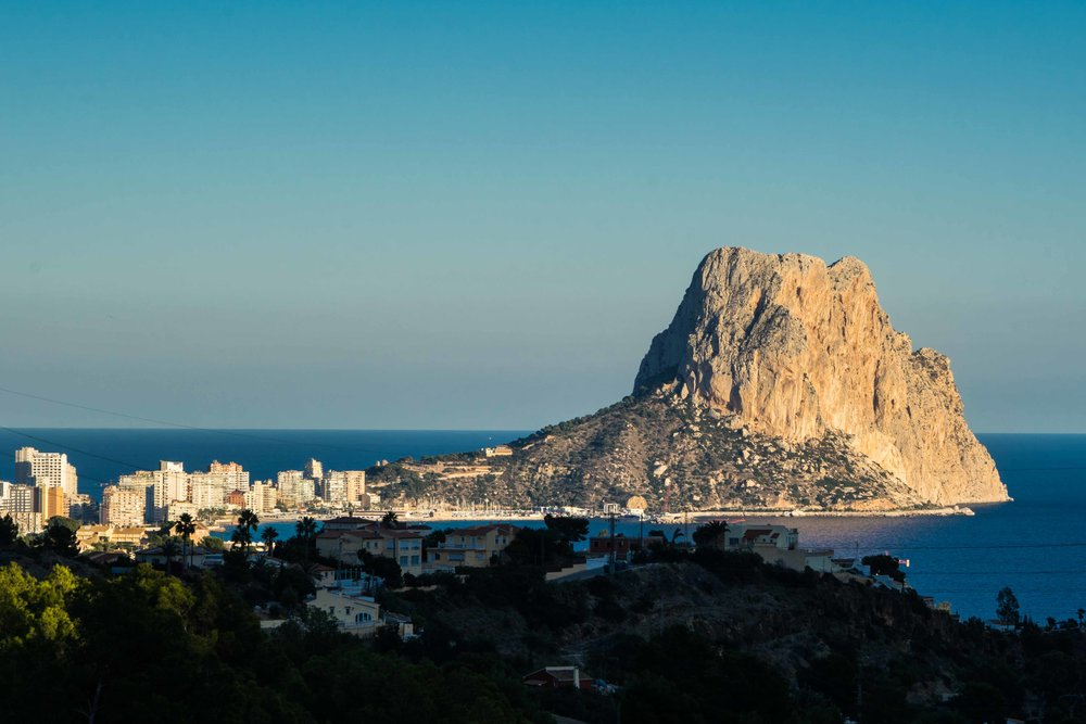 The famous Penon d'ifach in the Costa Blanca
