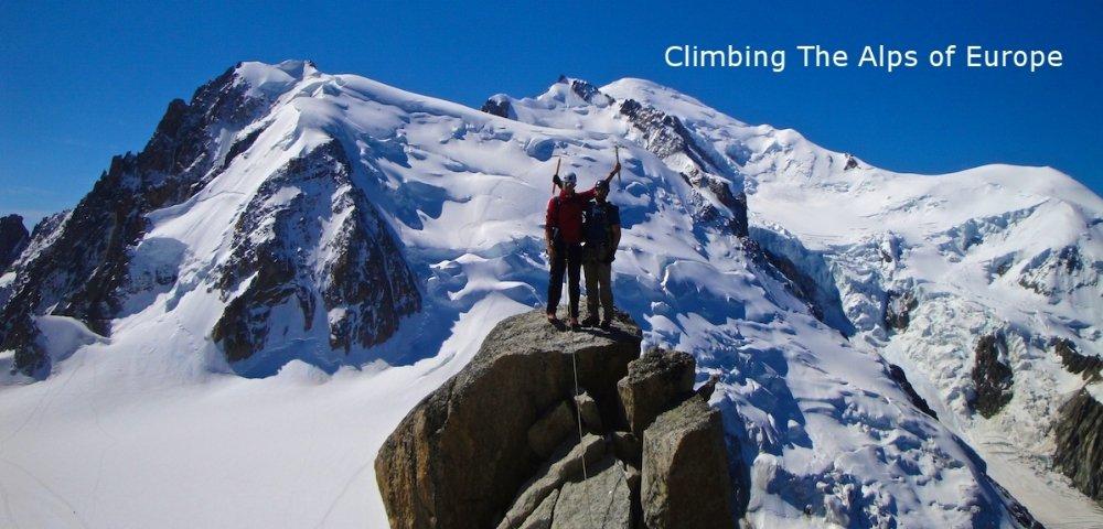 Climbing in Chamonix