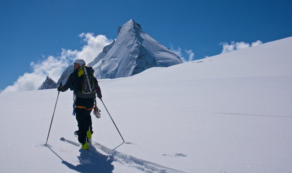 Ski touring on the Haute Route