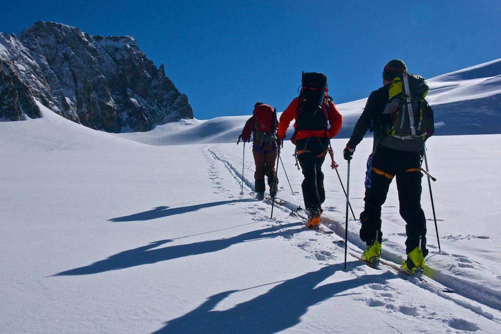 Ski touring on the last day of the Haute Route