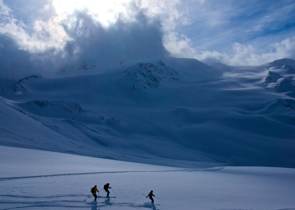 Fresh tracks on the Ortler tour