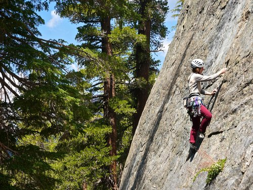 custom rock climbing course mammoth lakes