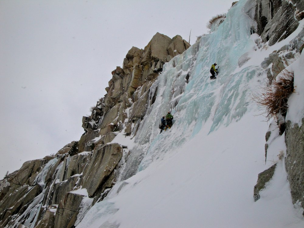 Ice climbing in Lee Vining Canyon