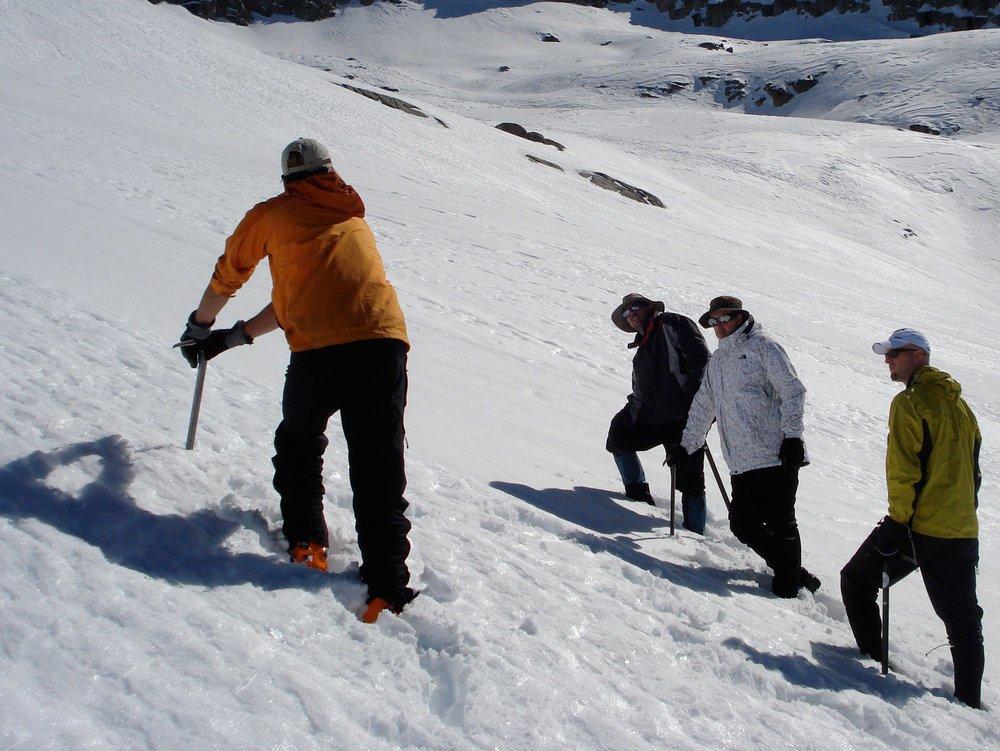 Snow climbing practice