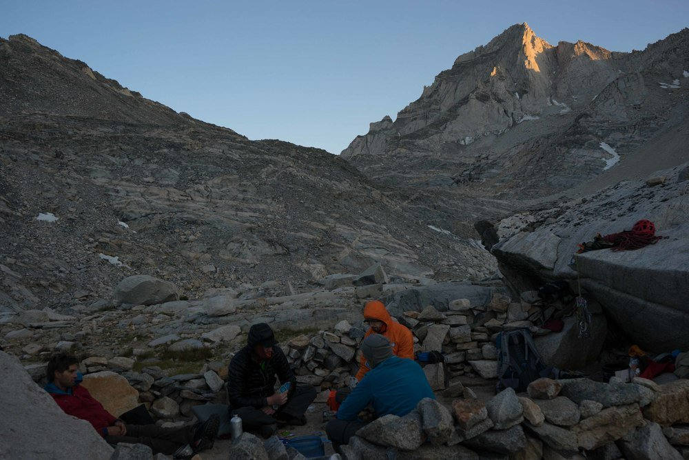 Camp beneath Bear Creek Spire