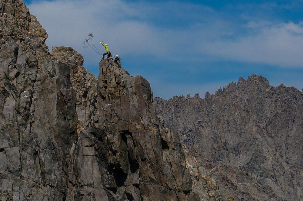 Climbing Temple Crag