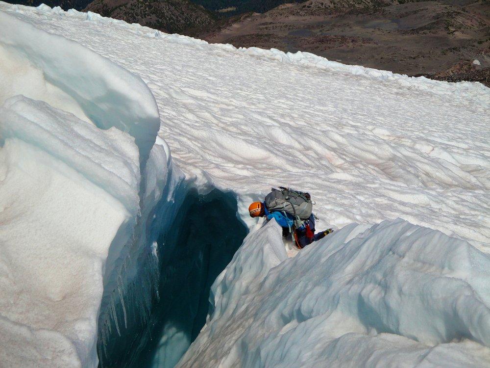 Crevasse on the Hotlum Glacier