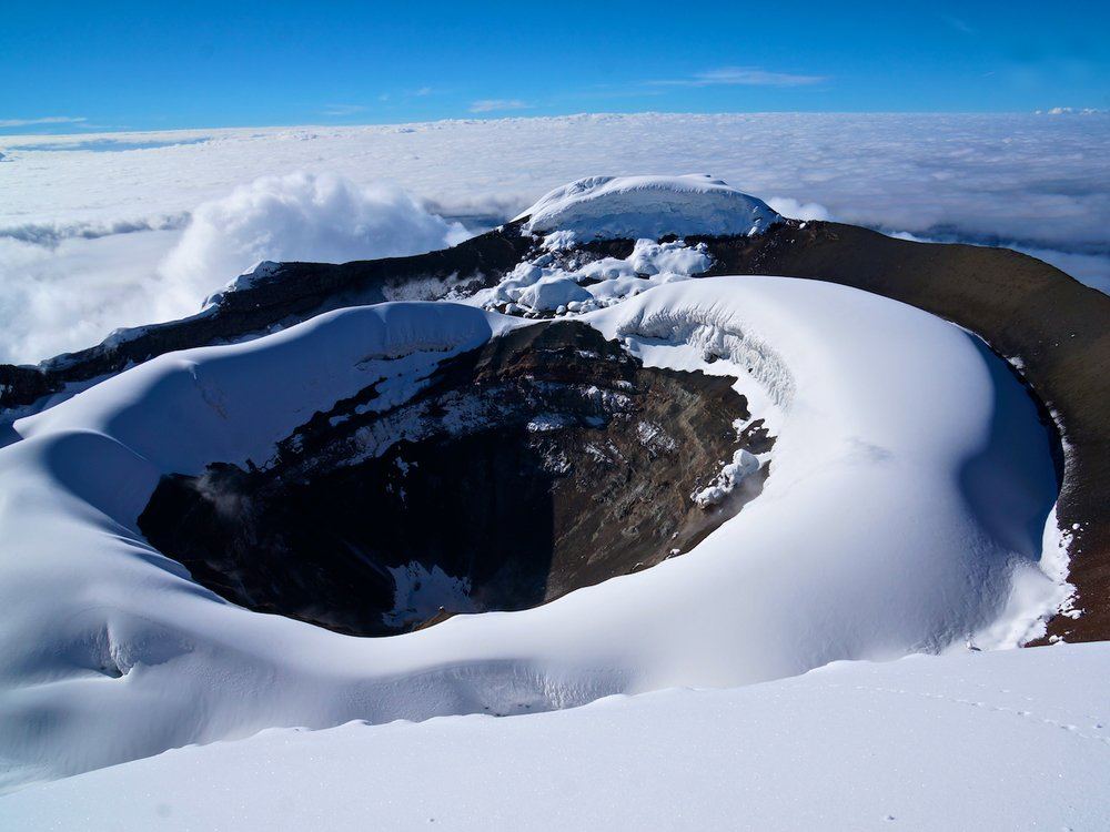 Summit crater on Cotopai