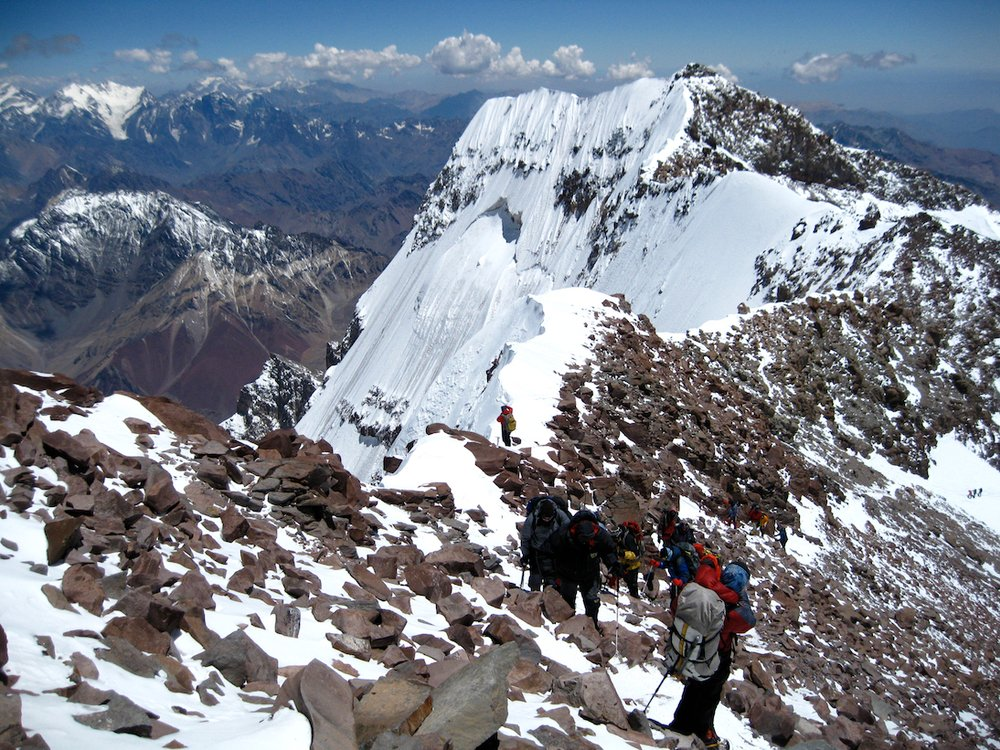 Nearing the summit of Aconcagua