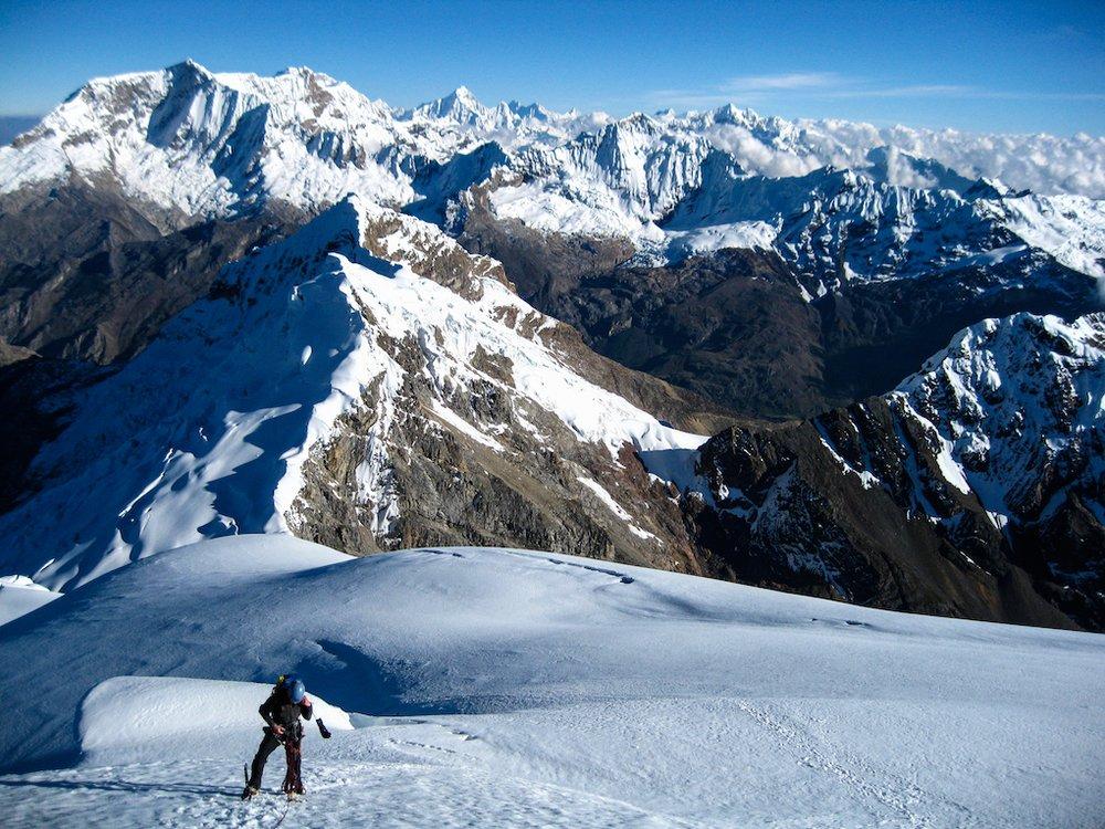 Climbing in the Cordillera Blanca