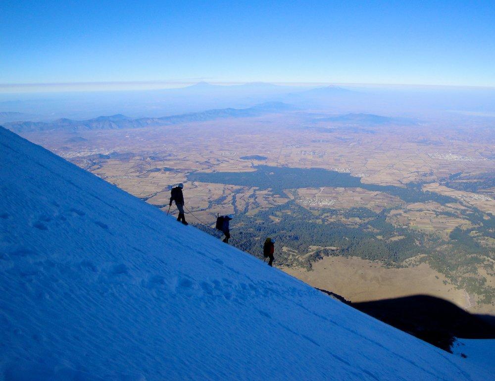 Climbing the Jamapa Glacier on Orizaba