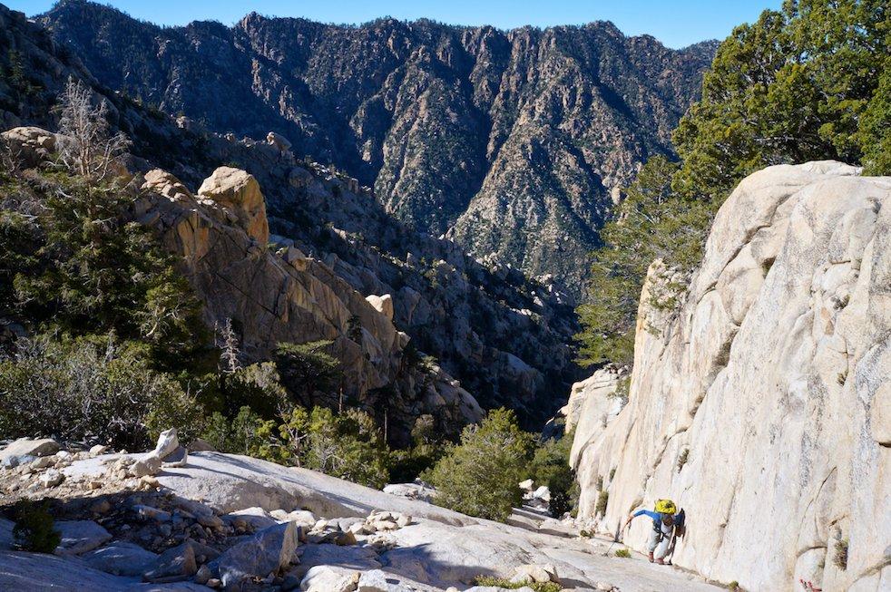 Climbing on Picacho del Diablo