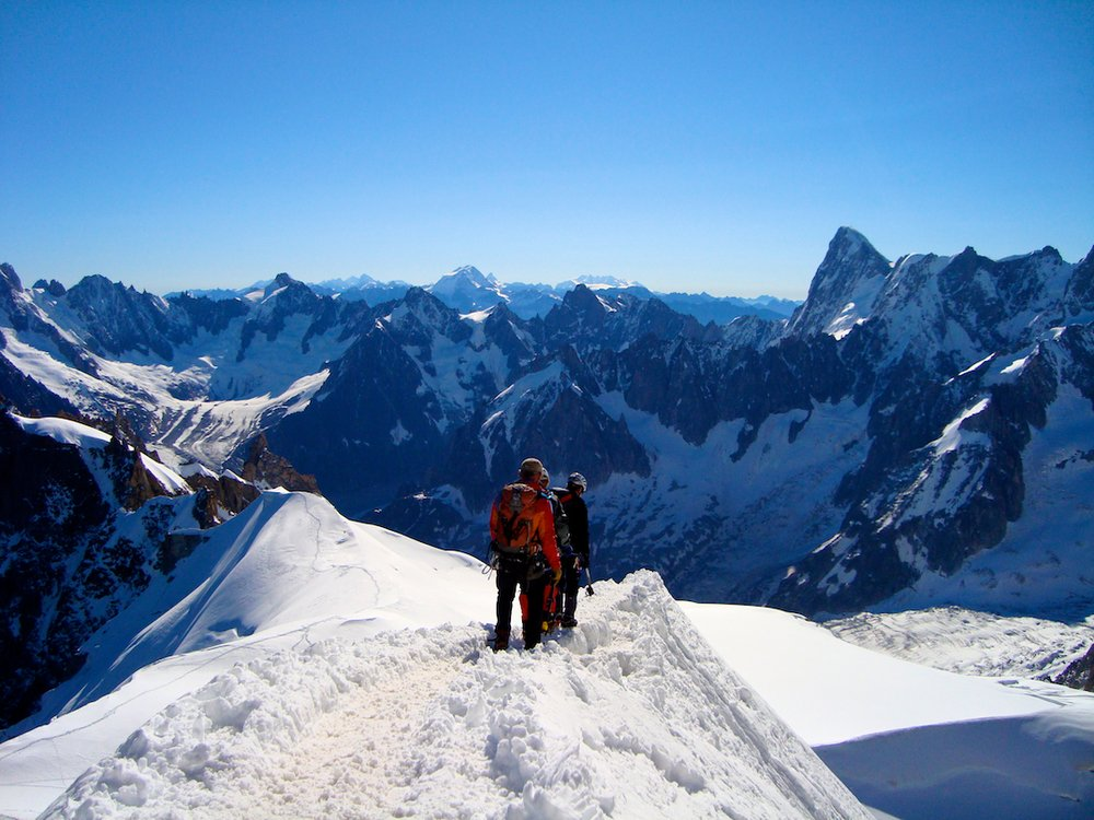 The Aigulle du Midi in Chamonix