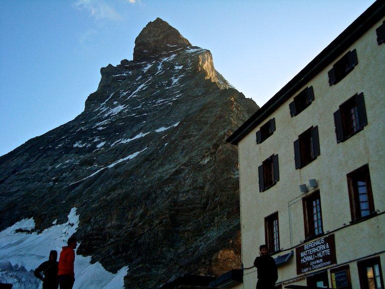 The Matterhorn and the Hornli Hutte