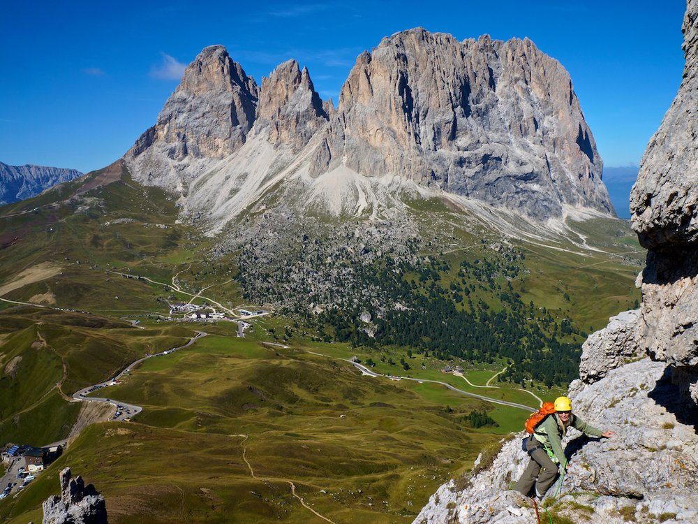 Climbing on the Sella Towers