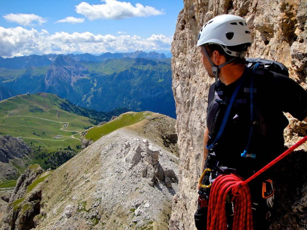 A view from a Dolomite Rock Climb