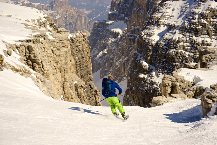 Skiing the Val di Mesdi