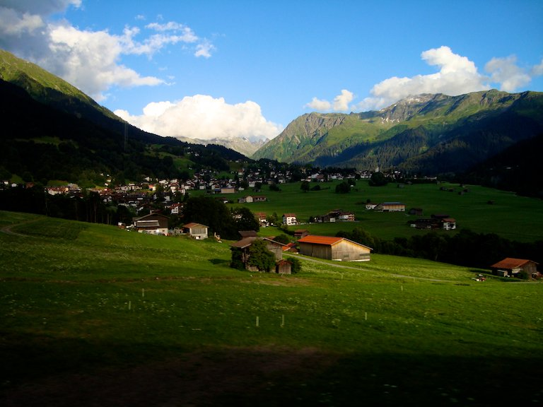 Hiking along the Swiss Haute Route