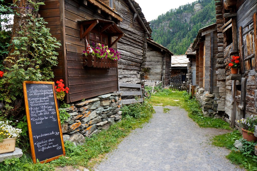 Small village on the Haute Route trek