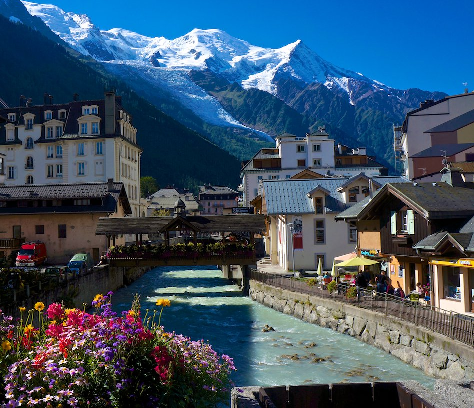 Chamonix at the beginning of the Haute Route