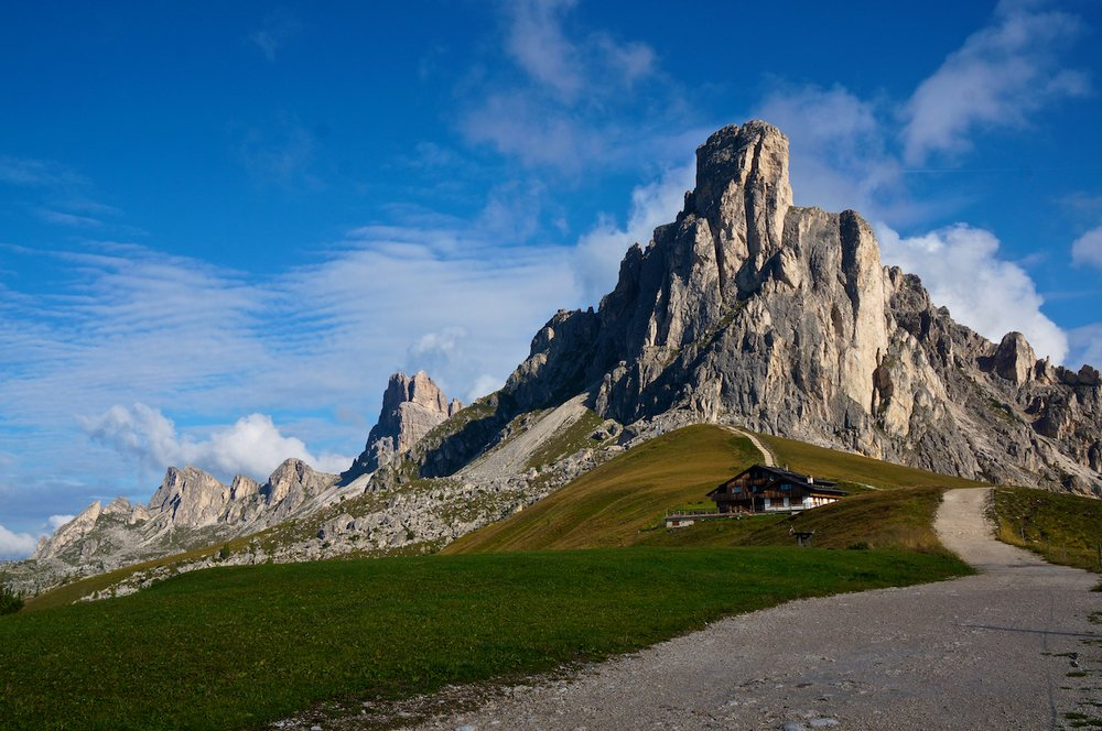 Passo Giau along the Dolomites Alta Via One Trek