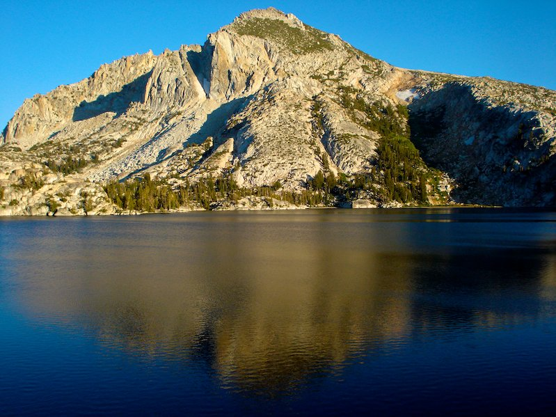 Peeler Lake the border of Yosemite