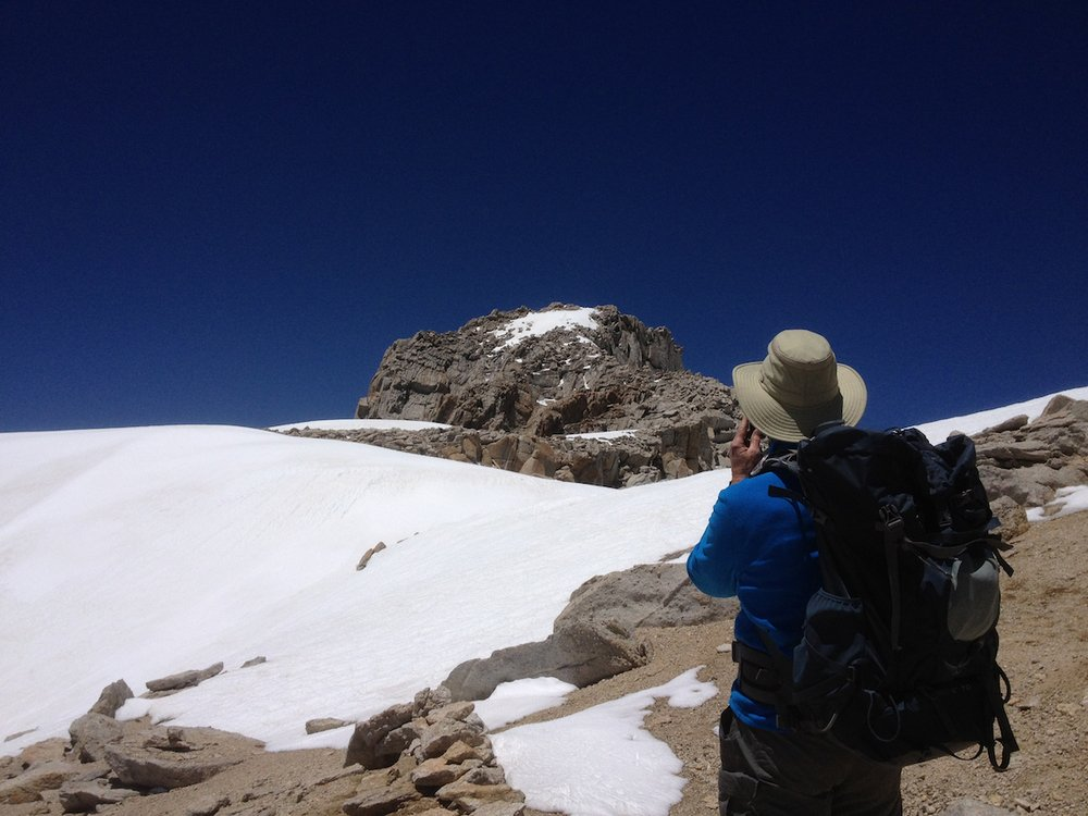 Approaching the summit of Mount Conness