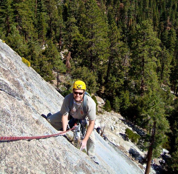 following a rock climb
