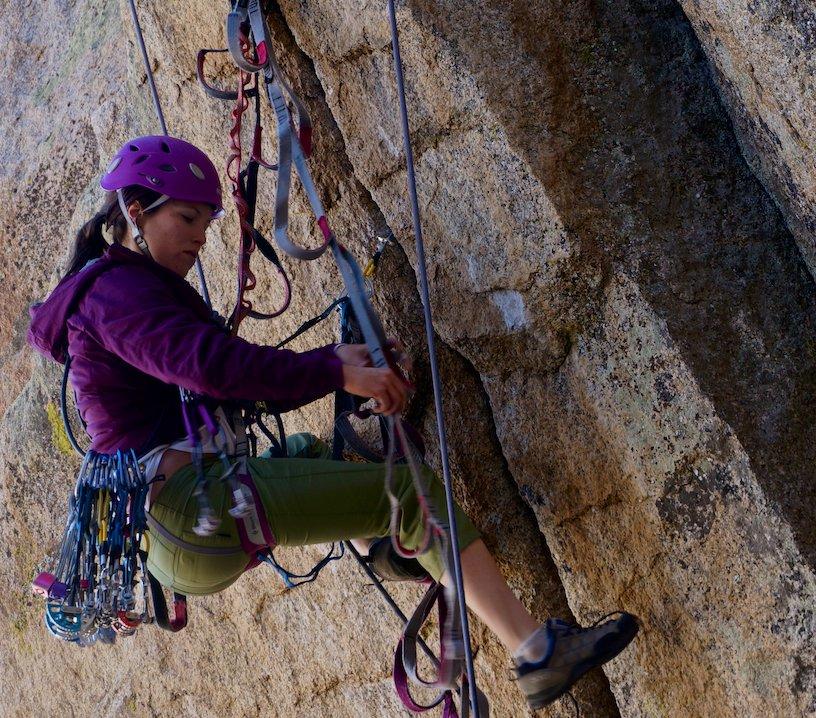 Steep aide climbing training