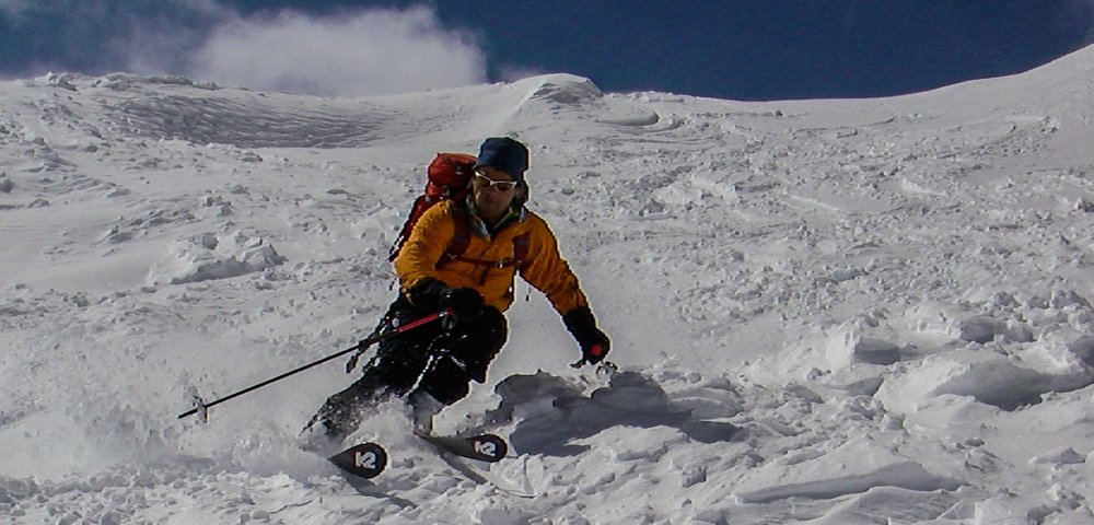 Dave skiing in Chamonix, France.