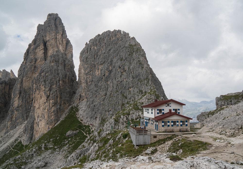 A hut along the via ferrata tour