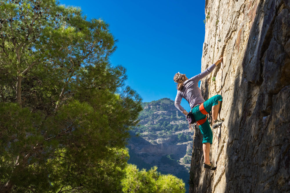 Rock climbing in El Chorro, Spain