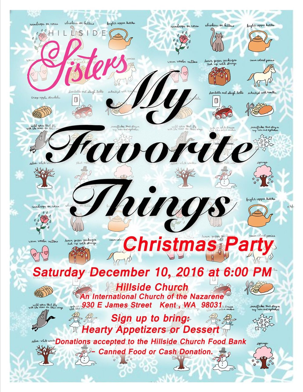 All ladies are invited to our Annual Christmas Party,at the Church.