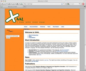 Main page of xaal.org