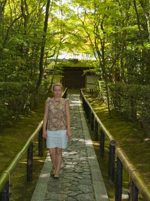 Linda at Temple Path